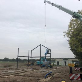 Steel erection commenced